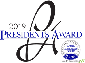 Tampa AC Repair and Air Conditioning Services President's Award 2019